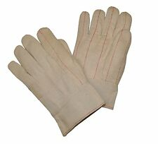 G & F Cotton Canvas Hot Mill Glove Band Top Double Palm Large 120-Pairs
