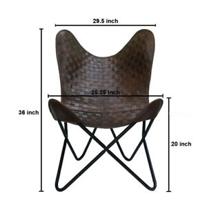 Handmade Butterfly Chair Genuine Leather Living Room Chair