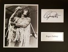 More details for roger daltrey signed 16x12 photo display the who coa