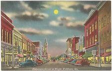 Patterson Street at Night in Valdosta GA Postcard