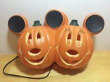 Mickey Minnie Mouse Disney Halloween Jack O Lantern Light Lamp Pumpkin Plug