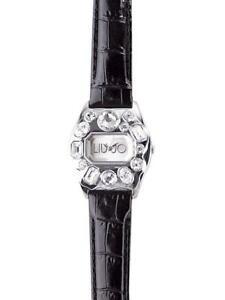 Orologio Donna LIU JO Luxury MATILDA TLJ092 Pelle Nero Swarovski Pietre Bianche