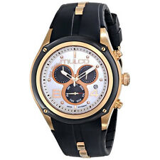 MULCO DRESS CHRONOGRAPH DAY & DATE MOP DIAL BLACK STRAP WATCH MW1 29902 021 NEW