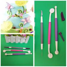 3x Decorating Cake Scriber Flower Modelling Wheel Tools for Fondant Sugarcraft#