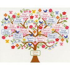 Bothy threads ma famille arbre Cross Stitch Kit maternelle & ascendance paternelle