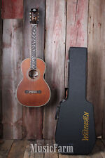 Washburn R320SWRK Parlor Vintage All Solid Wood Acoustic Guitar w Hardshell Case