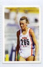 (Jh447-100) RARE,Trade Card Booster of Liz Lynch, Athlete 1986 MINT