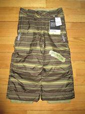 New Burton Boys Size XS (3-4) Green Leech Stripe Cyclops Snowboard Ski Pants