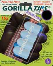 GORILLA TIPS FINGERTIP GUARDS/PROTECTORS for GUITAR BANJO UKULELE LARGE CLEAR
