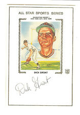 DICK GROAT ALL STAR SPORTS SERIES AUTOGRAPHED SIGNED CACHE PITTSBURGH PIRATES