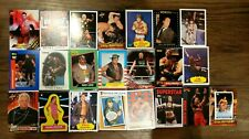 1985-2017 WWF WWE WCW NWA Wrestling 530+ Card Lot Stickers Classic Topps /199