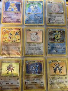 Complete Pokémon Base Set 102/102 WOTC 1999 (includes Charizard, Blastoise, etc)