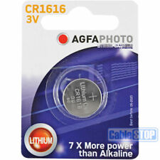 AGFA CR1616 3V Lithium Button Battery Coin Cell DL1616 for Car Key Fobs EXP 2026