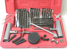 50Pc Quick Tire Patch  Repair Tool Kit W/ Case Plug Patch 4 Road Side Punctured