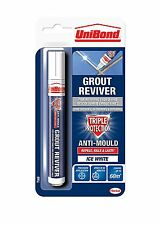 Unibond Grout Reviver Anti-Mould Pen Ice White 7ml For Walls Tiles Bathrooms