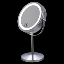 """7"""" Double-Sided Makeup Mirror 18 LED Lights 3x Magnification Vanity Beauty"""