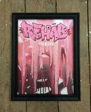 Peinture signée - tableau contemporain canvas street art dessin tag graffiti