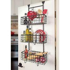 Behind Over The Door Rack Organizer Kitchen Bathroom 3 Shelf Shelves Storage NEW