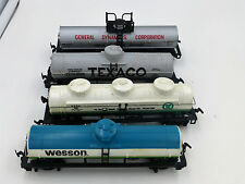 HO Scale ~ Lot of 4 Tankers ~Texaco, General Dynamics, Quaker State, Wesson