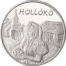 Ungarn 5000 Forint Silber 2003 Stgl. UNESCO Kulturerbe: Hollókö dt. Rabenstein