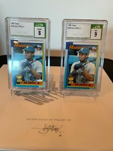 (2) 1990 Topps Ken Griffey Jr. #336 CSG 9 and CSG 8MINT!!!