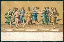 Firenze Città Giulio Romano Danza d'Apollo con le Muse Stengel cartolina KF2865