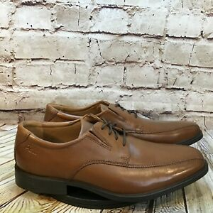 Clark's Men's Brown Leather Bicycle Toe Derby Lace Up Dress Shoes Size 10 M