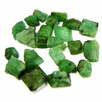 40.30Cts Natural Brazil tiny Green Emerald Loose Gemstone Rough Specimen Lot