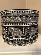 Black and White 'Elephants' 30cm Ceiling Shade