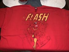 Justice League America Flash Shirt 4XL Red Graphic T Shirt