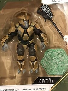 """2020 World of HALO Infinite 4"""" LOOSE BRUTE CHIEFTAIN from 2-pack NO Master Chief"""