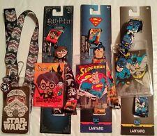 Harry Potter, Star Wars, Frozen II, Marvel/DC Lanyard/Badge Holders+Some W/ Pens