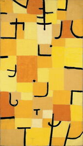 Paul Klee Signs In Yellow Giclee Canvas Print Paintings Poster Reproduction Copy