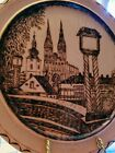 """Vtg. CROATIAN HAND CRAFTED/CARVED ZAGREB WOOD WALL PLATE/PLAQUE 12 """" Folk Art ~"""