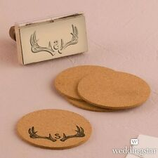 Personalized Woodland Pretty Textured Rubber Stamp Diy Wedding Favor Decoration