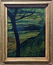 Tableau Peinture Cadre 20ème XXème Kokkinaki Expressionniste Paysage Arbre Rare