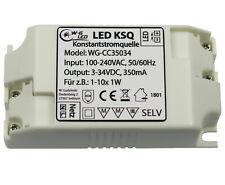 LED Konstantstromquelle|Treiber|3-34V|350mA|KSQ|für z.B. 1-10x 1W LED|10W|Driver