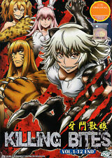 Killing Bites DVD Complete Collection EP 1-12 - US Seller Ship FAST