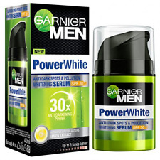 NEW !!Garnier Men Power White Anti-Dark Spots Whitening Serum SPF30 Size 40 ML