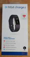Fitbit Charge 2 Heart Rate & Water Resistant Fitness Wristband Large Bundle
