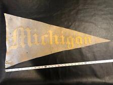 Vintage university of Michigan Football 1900s pennant