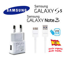 Cargador de red pared original + cable USB Samsung Galaxy S5 ETA-U90EWE blanco
