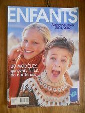 Catalogue PHILDAR n°354 - Automne-Hiver 2001 - ENFANTS de 6 à 16 ans