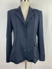 Woman's Tredstep Solo Classic Navy Blue Riding Equestrian Button Jacket Size 2