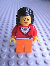 Lego Female Minifigure Red Cropped Sweater with Bow & Heart Necklace 5660