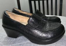 Alegria By PG Lite Womens Emma Loafers Black Leather Slip Resist Sz 5.5-6 EU 36
