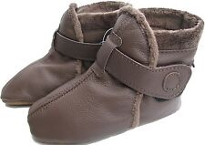 carozoo booties dark brown 18-24m soft sole leather baby shoes