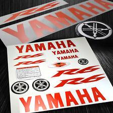 Full Sticker&Emblem Fairing/Fender Vinyl Graphic Kit Yamaha YZF-R6 Red+Chrome