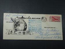 1946 AIR MAIL FIRST DEMONSTRATION FLIGHT LOS ANGELES N.Y. ENVELOPE COVER STAMP