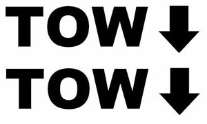 2 X TOW   STICKERS,TRUCKS, 4X4, CARS,VANS,JEEPS,LANDROVER,DISCOVERY,TDI,OFF ROAD